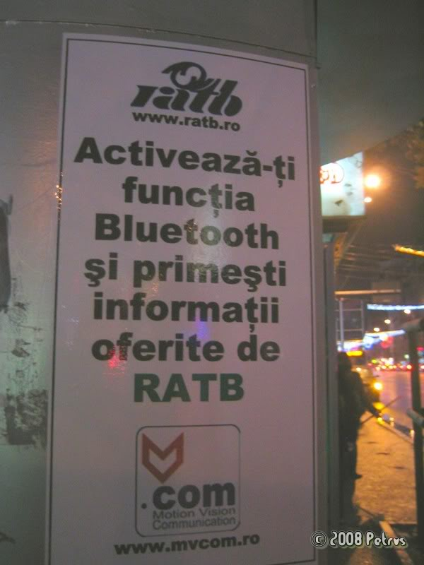 marketing mobil, RATB, Bucuresti