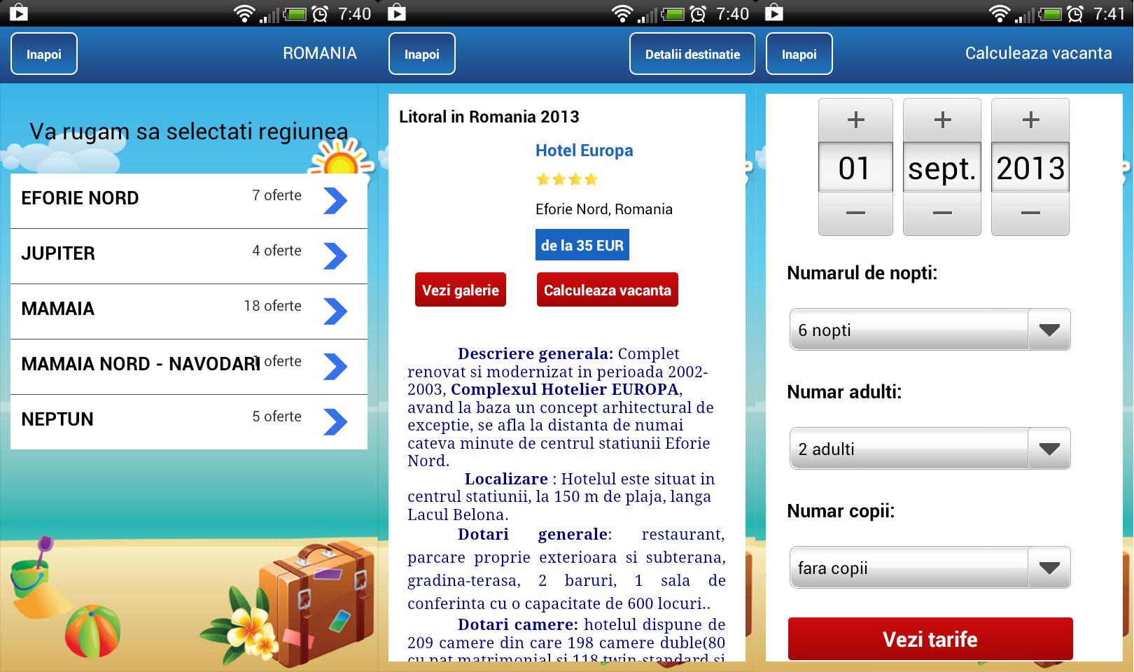 turism mobil, Paralela 45, litoral, aplicatie mobila