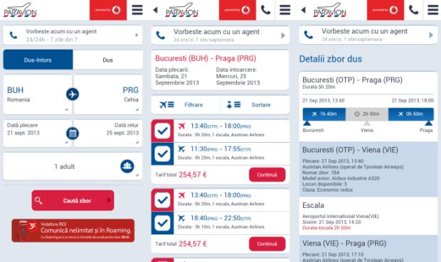 paravion.ro, Android, iOS