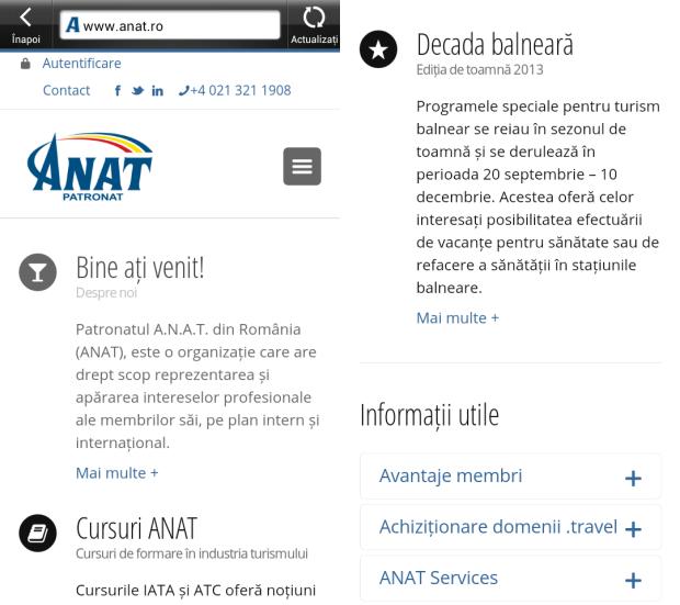 ANAT, responsive design